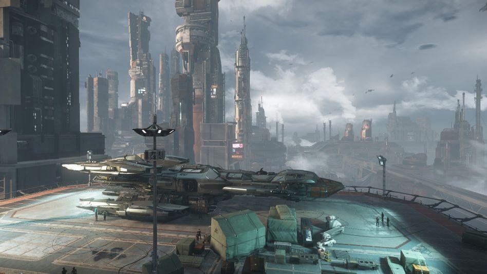 """""""Star Citizen""""-Stadt Area 18"""
