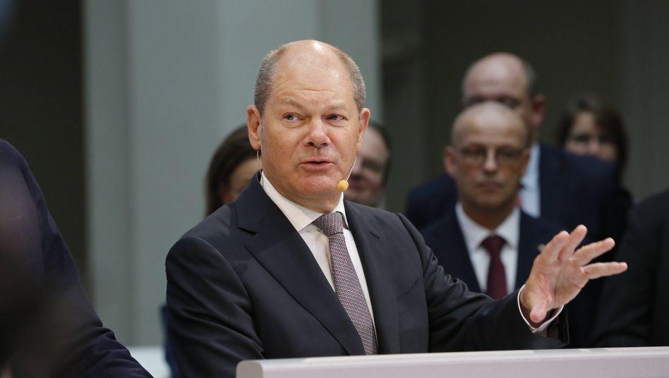 Finanzminister Scholz