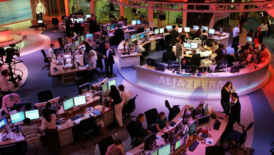 Büro von Al Jazeera in Doha