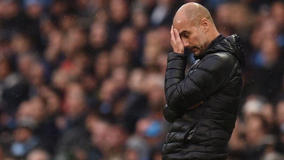 Pep Guardiola ist mit Manchester City vor dem Spiel gegen den FC Liverpool nur Außenseiter