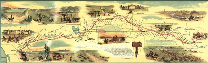 Route des Pony Express: 3200 Kilometer von Missouri bis Kalifornien