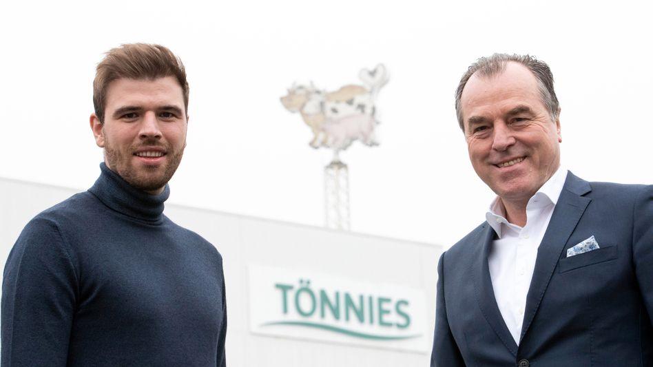 Clemens Tönnies (rechts) mit seinem Sohn und Mitgesellschafter Maximilian Tönnies