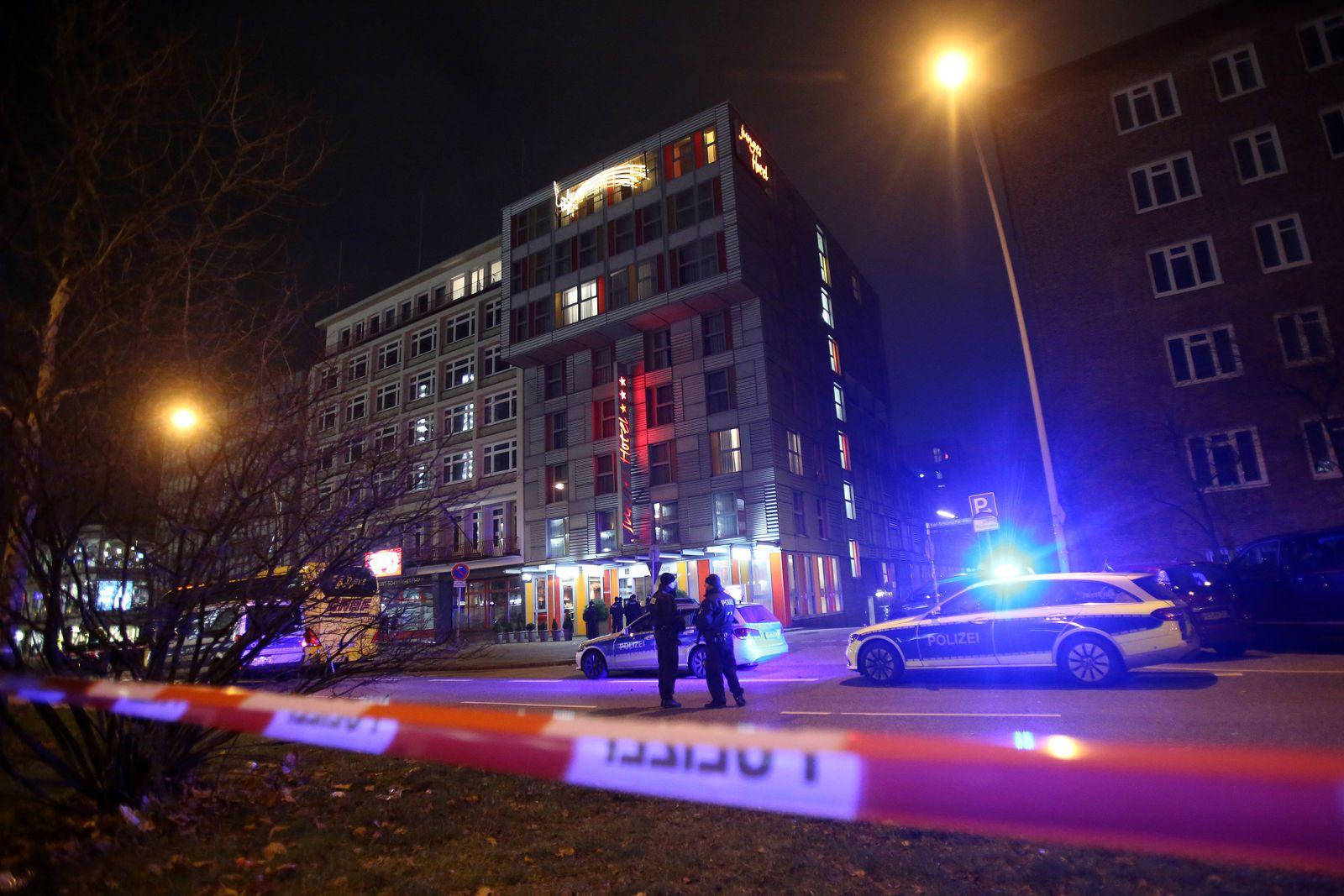 Polizeieinsatz in Hamburger Hotel