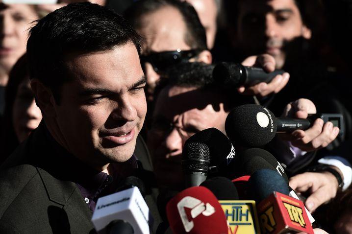 Oppositionsführer Tsipras: Kraftmeiereien gen Brüssel