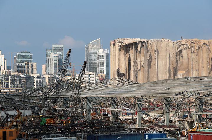 Die Explosion im Hafen von Beirut führte im August zu massiven Zerstörungen in weiten Teilen der Stadt