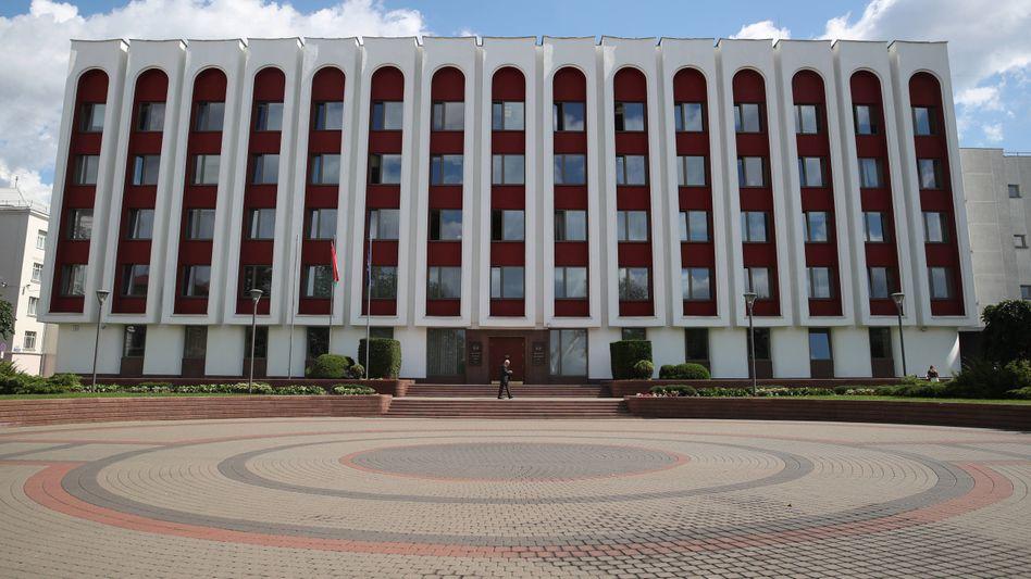Belarussisches Außenministerium in Minsk (2020)