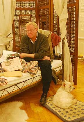 Correspondent Roger Boyes in his Berlin apartment.