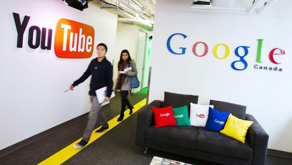 YouTube-Logo in kanadischem Google-Büro: Kommentare auf der Videoseite sind nur noch mit Google+ erlaubt