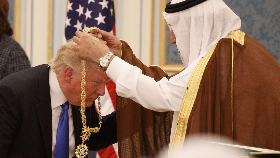 Donald Trump in Saudi-Arabien (Archivbild)
