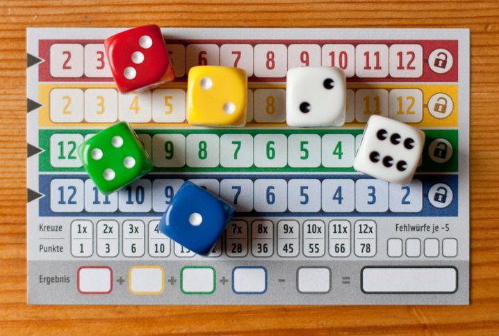 """""""Qwixx"""": Sechs Würfel und ein Spielblock - das ist das gesamte Material"""