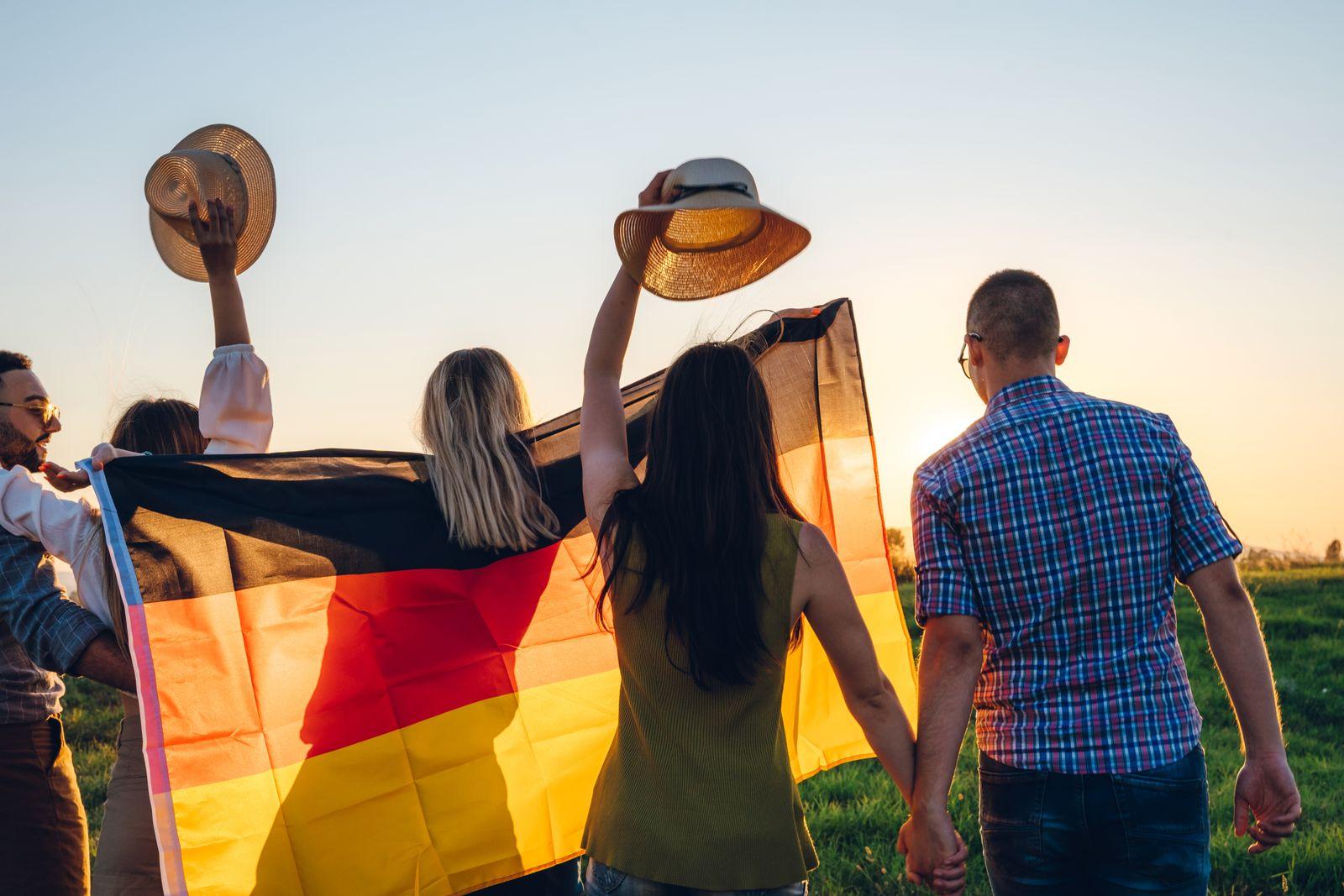 Spreading german flag