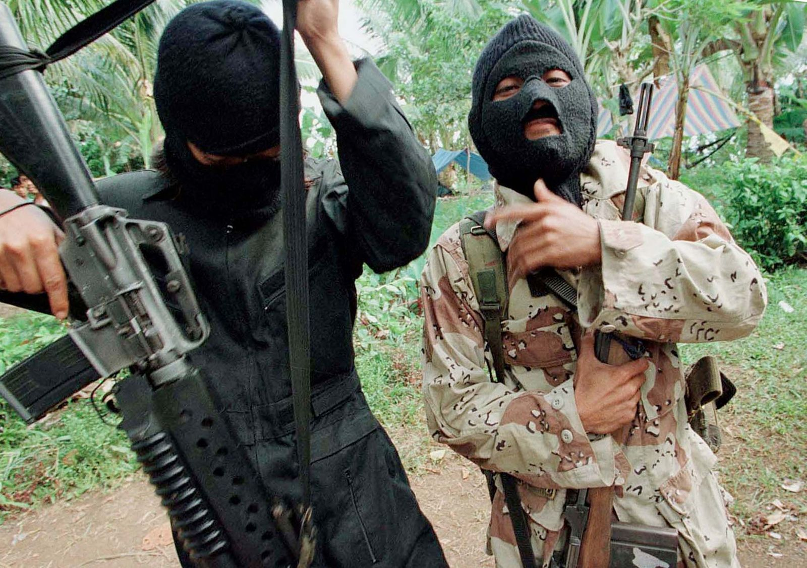 ABU SAYYAF REBELS AT THEIR CAMP IN JOLO