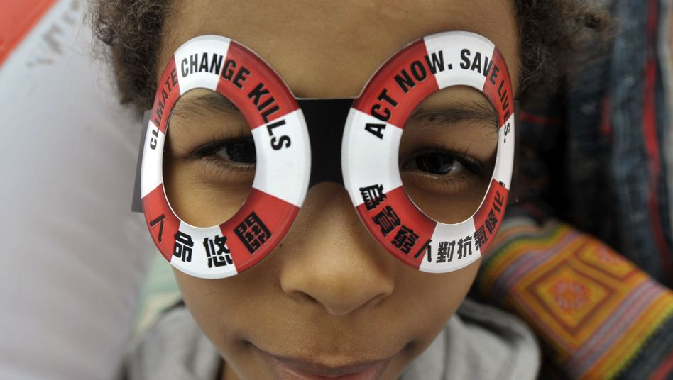 Klima-Aktivistin (in Hong Kong, Dezember 2009): Schwierige Verhandlungen