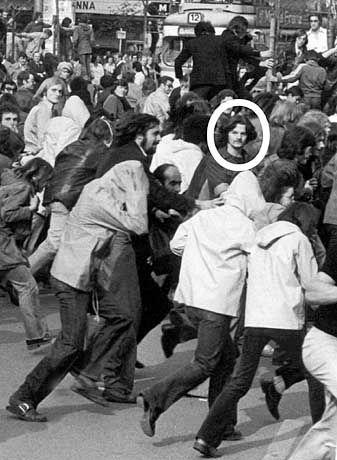 """Demonstrant Fischer, 1974 in Frankfurt: """"Er besaß die Fähigkeit, sehr schnell bis ins Zentrum der Bewegung vorzustoßen"""""""