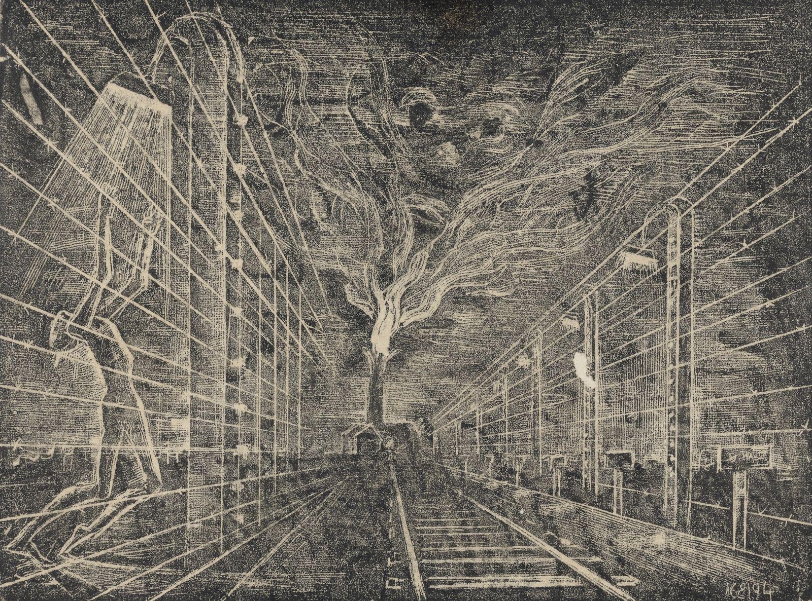 Yehuda Bacon - Recollections from Auschwitz - Crematorium No. 3 & 4, 1945