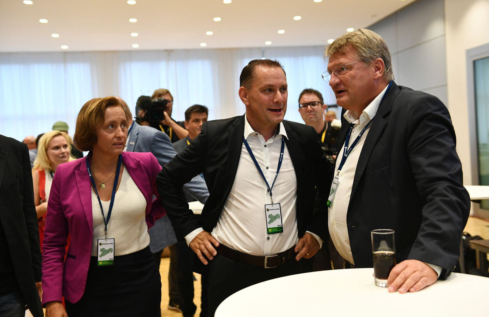 Regional elections in Saxony 2019, Dresden, Germany - 01 Sep 2019