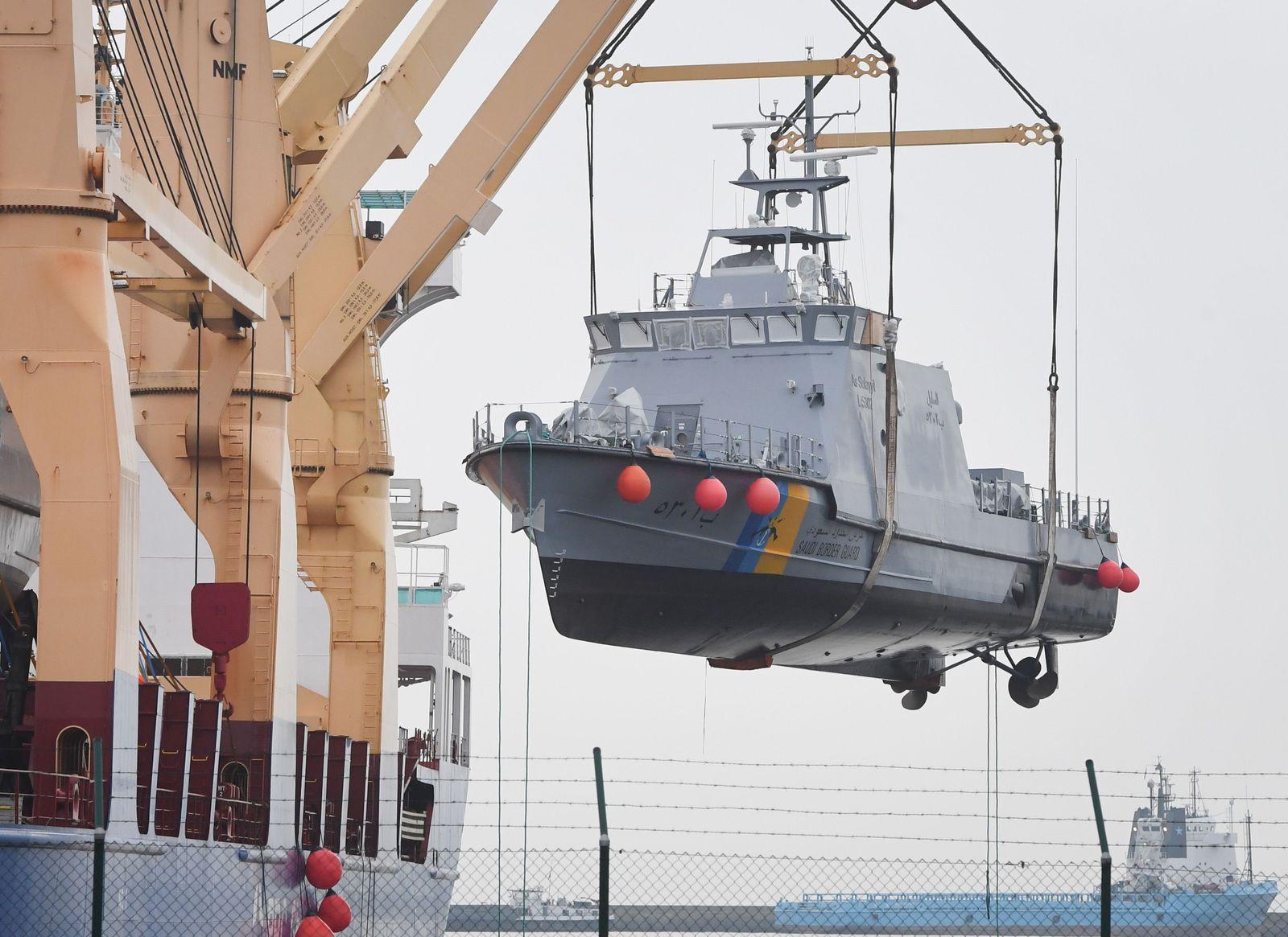 EINMALIGE VERWENDUNG Rüstungsexport/ Saudi-Arabien/ Küstenschutzboot