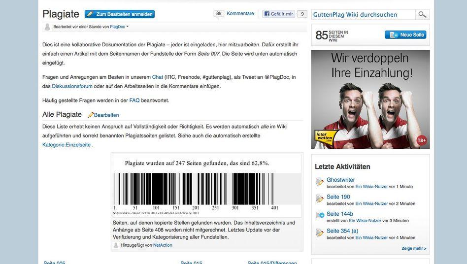 GuttenPlag-Wiki: Aktivisten wollen bei Plagiapedia weitere Doktorarbeiten untersuchen