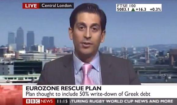 EINMALIGE VERWENDUNG NUR ALS ZITAT!! YouTube BBC Händler Alessio Rastani