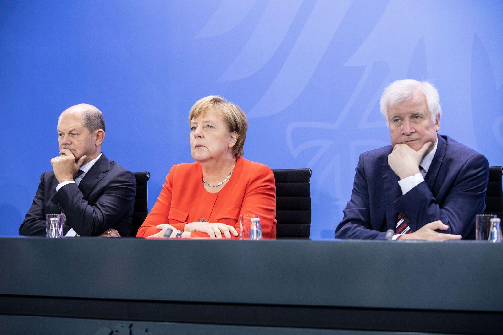 EINMALIGE VERWENDUNG Angela Merkel/ Horst Seehofer/ Olaf Scholz