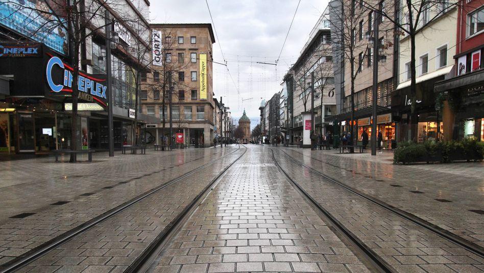 Leere Innenstadt von Mannheim: Die Geschäfte sind dicht – wie lange müssen sie es bleiben?