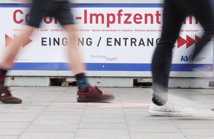 Impfzentrum in Hamburg