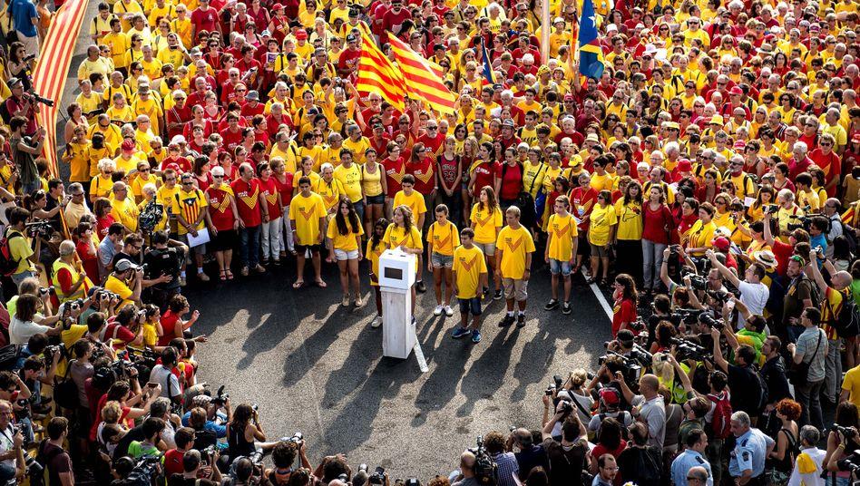 Unabhängigkeit von Spanien: Katalanen demonstrieren für eigenen Staat