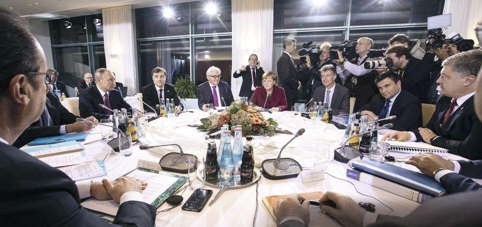 Ukrainegipfel im Berliner Kanzleramt am 19. Oktober