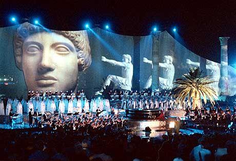 Das Konzert im griechischen Tempel des Zeus wurde aufgezeichnet und soll im Herbst als Album erscheinen