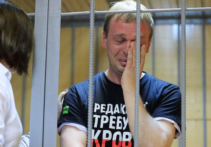 Iwan Golunow im Gerichtssaal: den Tränen nahe