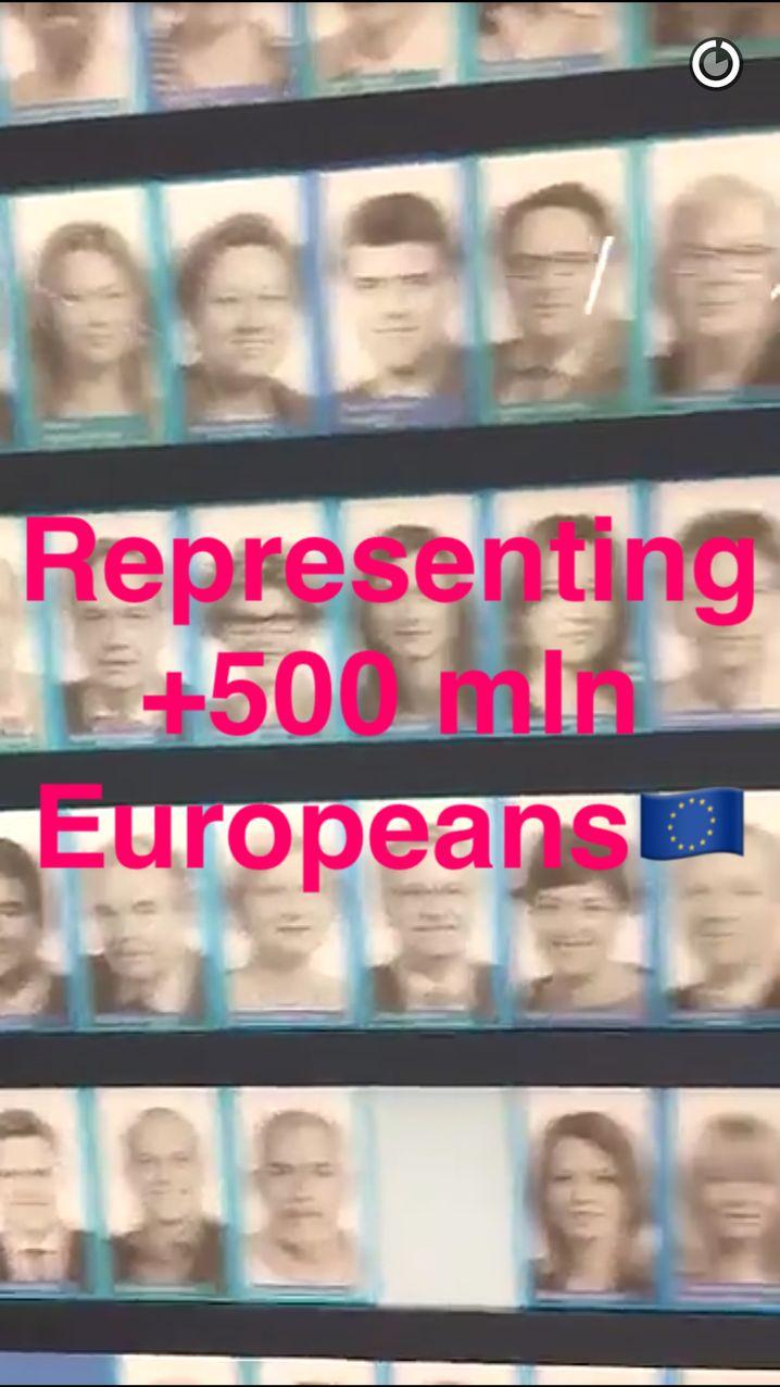 Snap vom Europäischen Parlament