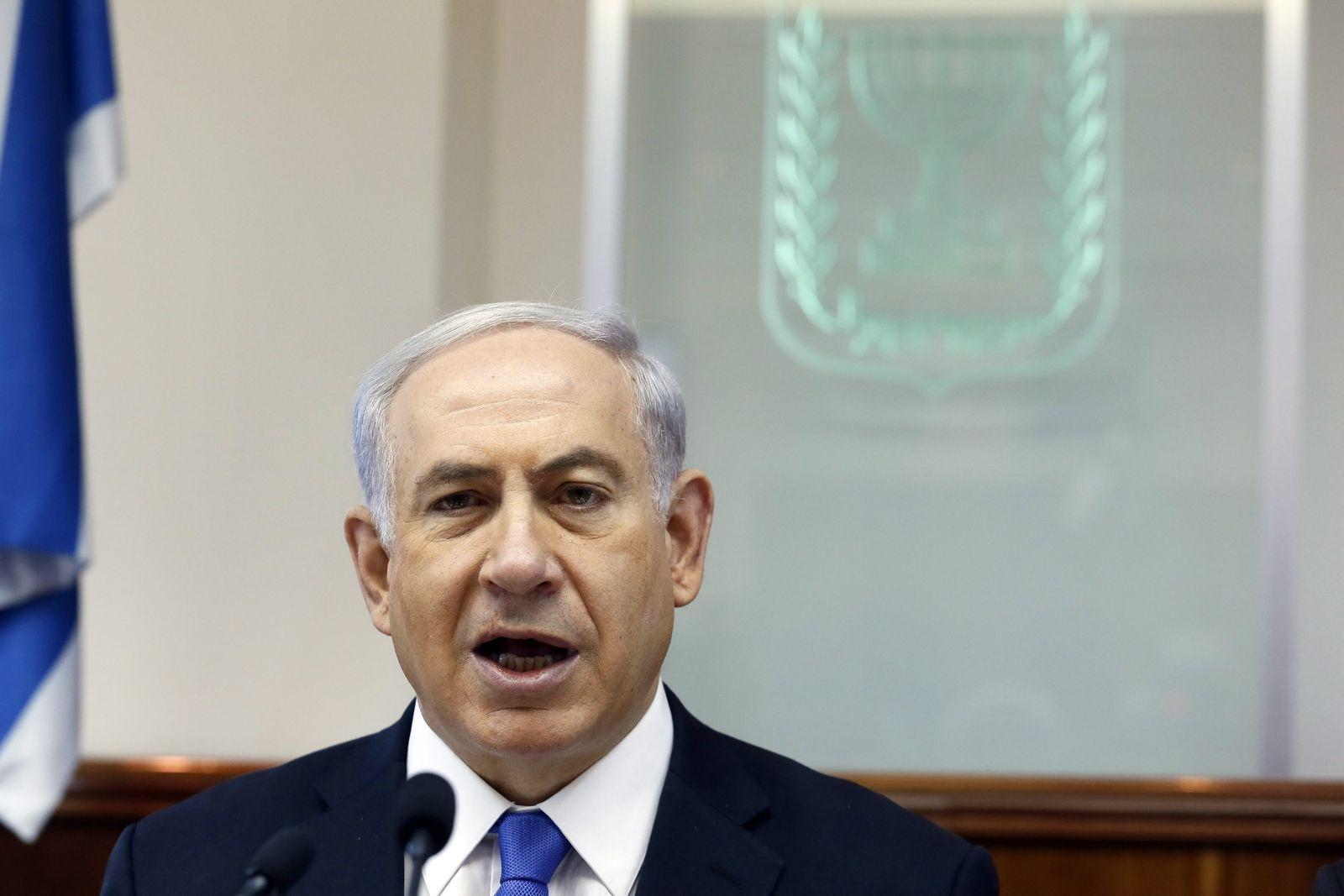 Israeli Prime Minister Benjamin Netanyahu presides cabinet meetin