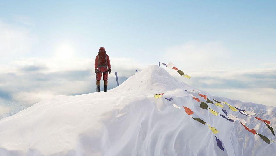 Auf dem Gipfel des Mount Everest