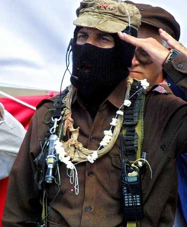 Subcomandante Marcos of Chiapas entered into an alliance with a Muslim movement in the mid-1990s.