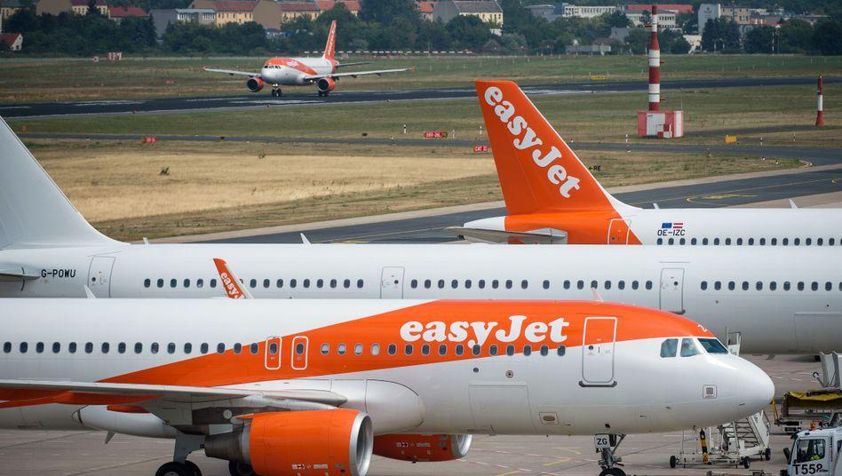 Flugzeuge der britischen Airline EasyJet am Flughafen Berlin-Tegel: Knapp 30 Millionen Euro für Umweltprojekte