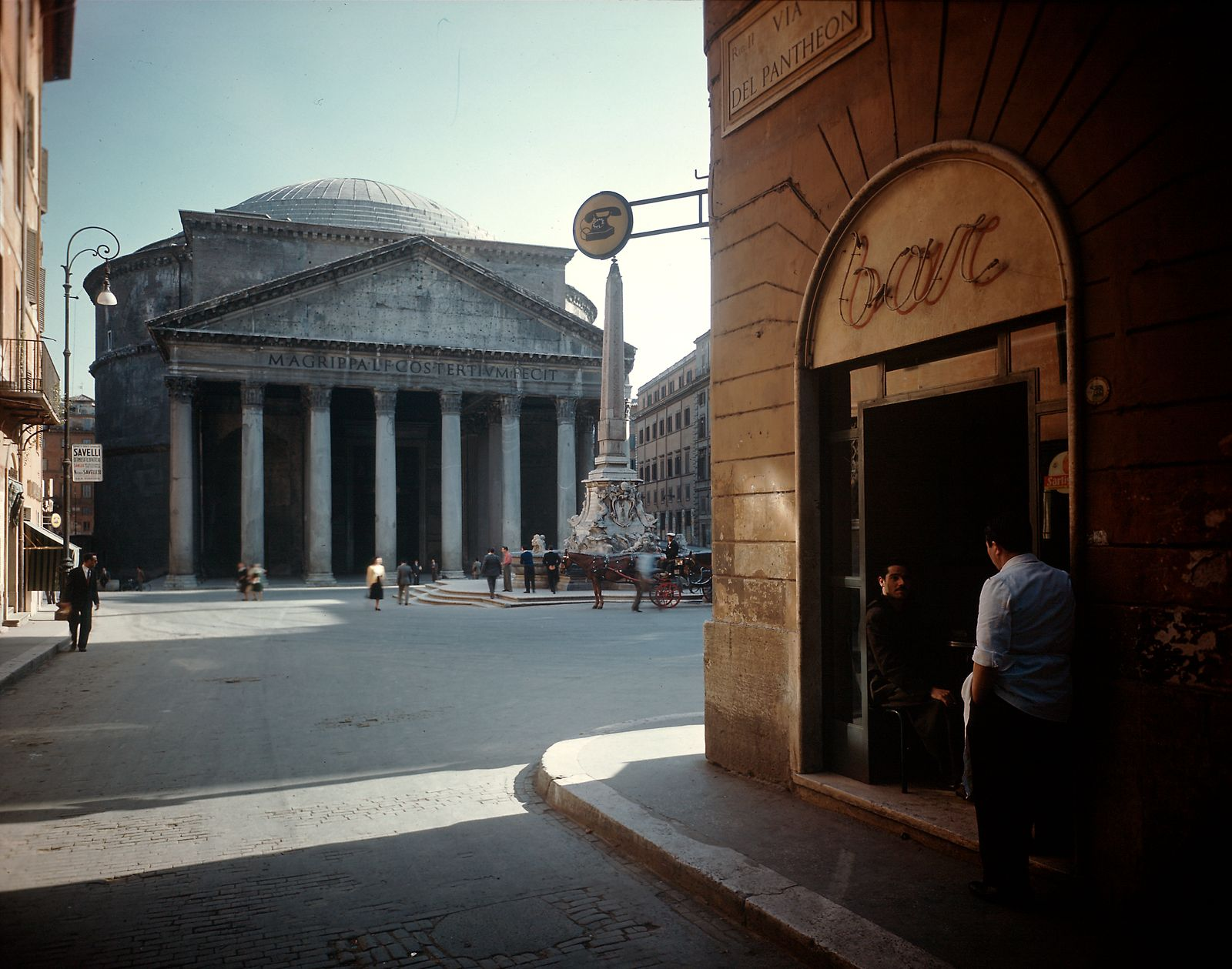 View of exterior front of The Pantheon.