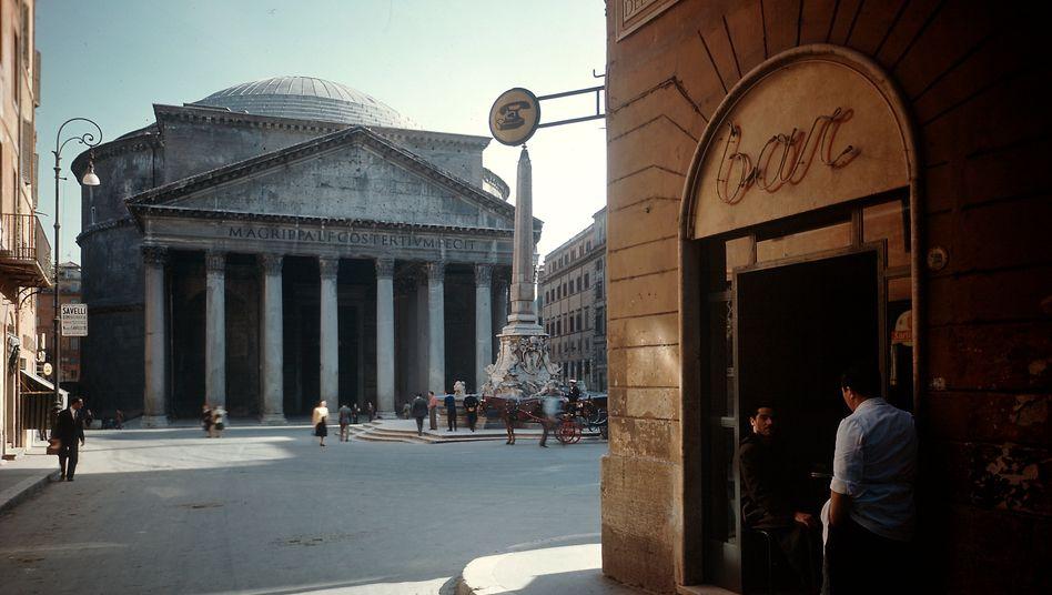 Blick auf das Pantheon in Rom (1949)