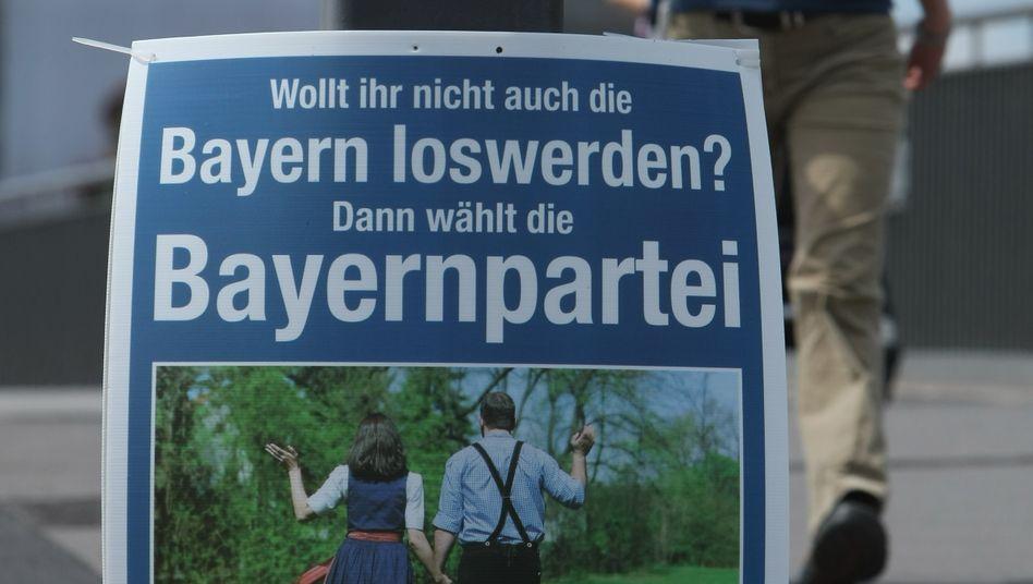 Wahlplakat der Bayernpartei (Archivbild aus dem Jahr 2009)