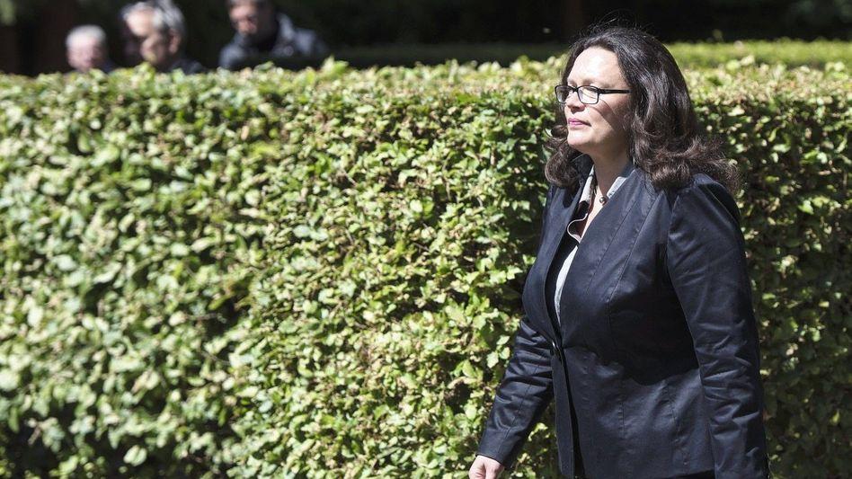 Sozialpolitikerin Nahles: »Ich bin schließlich die Fachministerin«