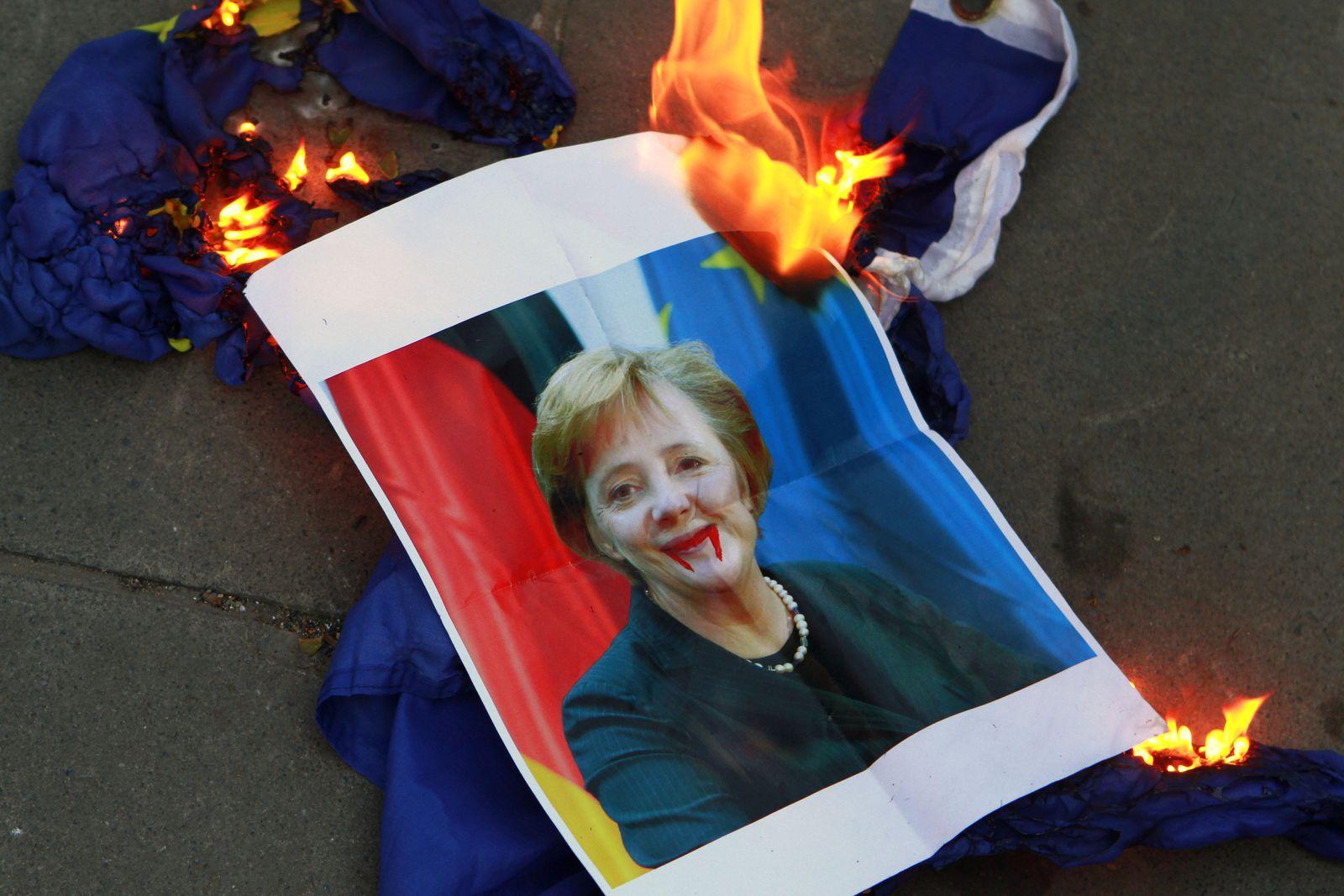 Anti-Merkel-Protest / Zypern