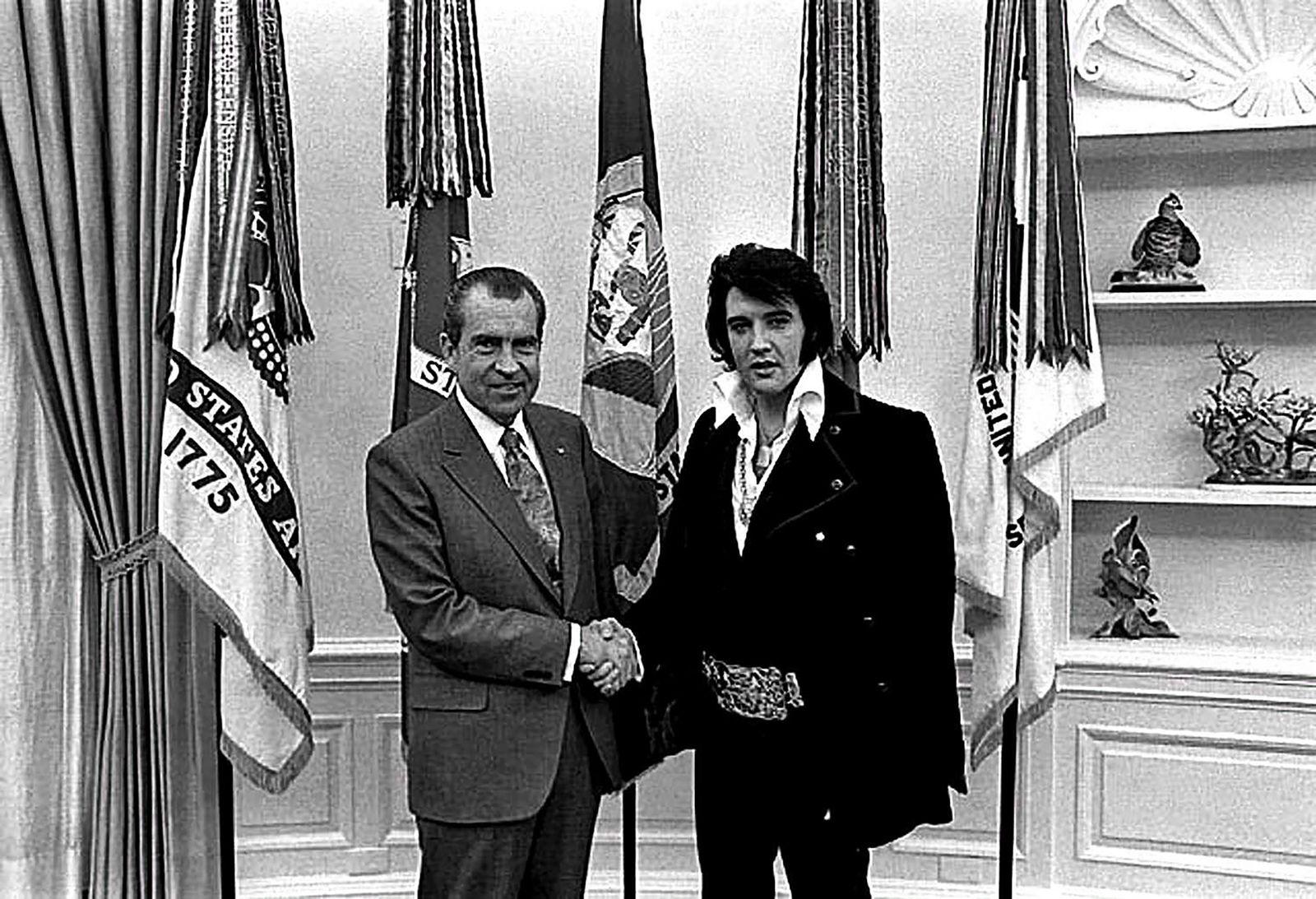 Elvis Presley - 40th anniversary of Richard Nixon's resignation as US President