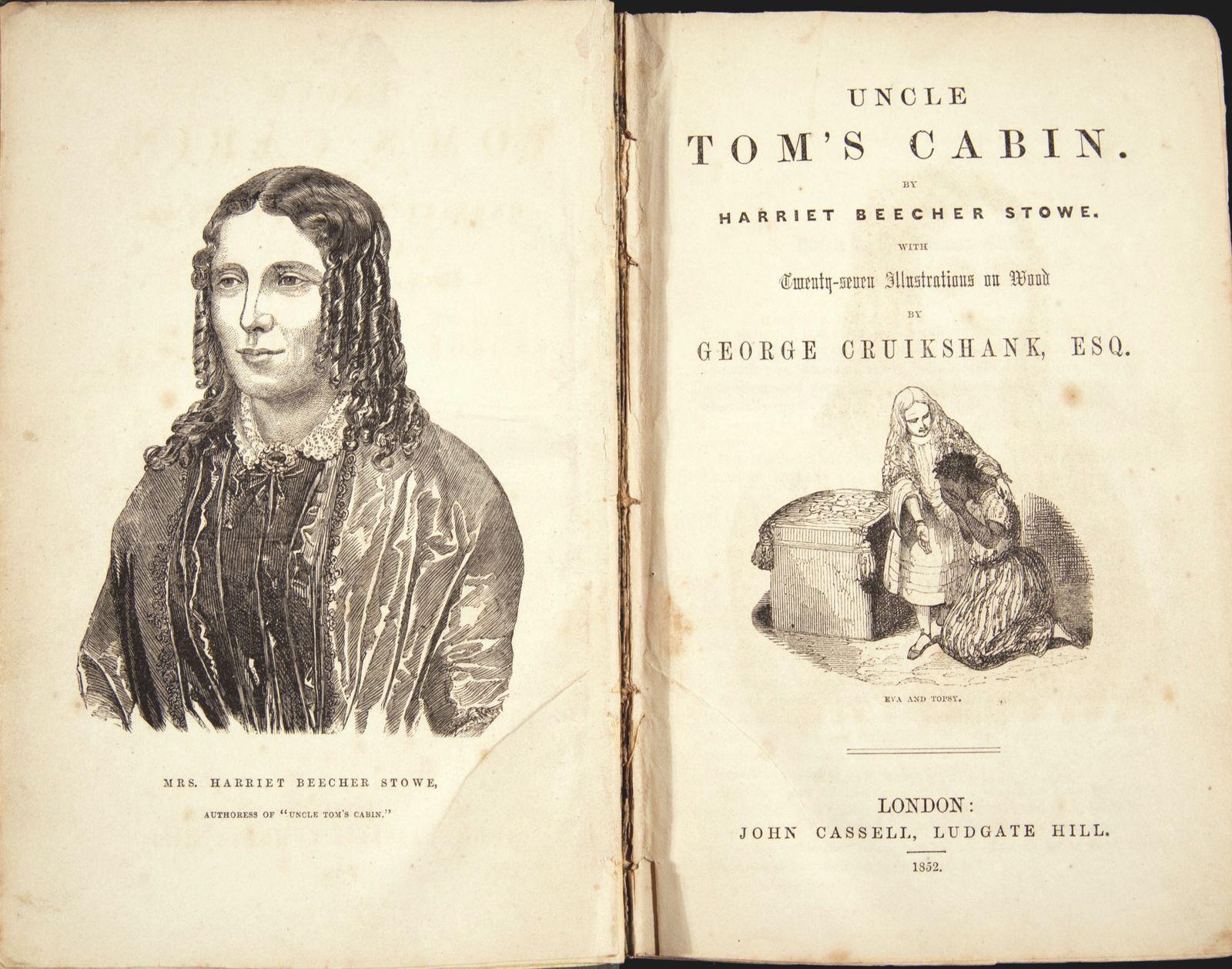 Harriet Beecher Stowe. Frontispiece Of Uncle Toms Cabin,