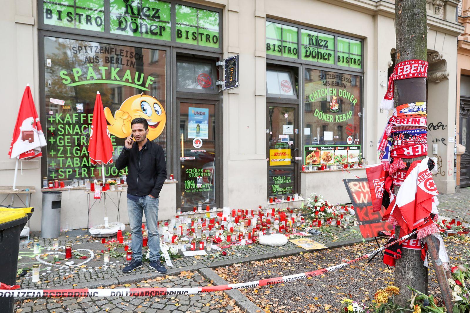 Haseloff und Opferbeauftragter in Halle