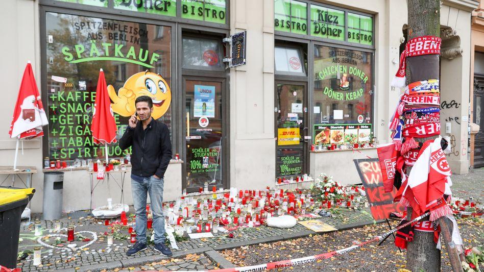 Tatort in Halle: Am 9. Oktober 2019 erschoss ein Rechtsextremer einen Mann in Izzet Cagacs Imbiss und tötete ein weiteres Opfer auf offener Straße
