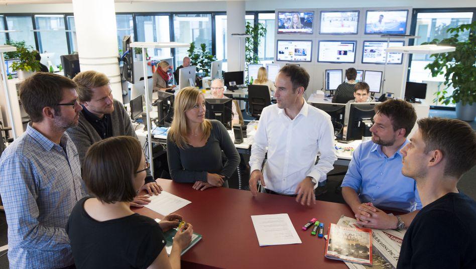 Konferenz im Newsroom: Immer wieder alles anders