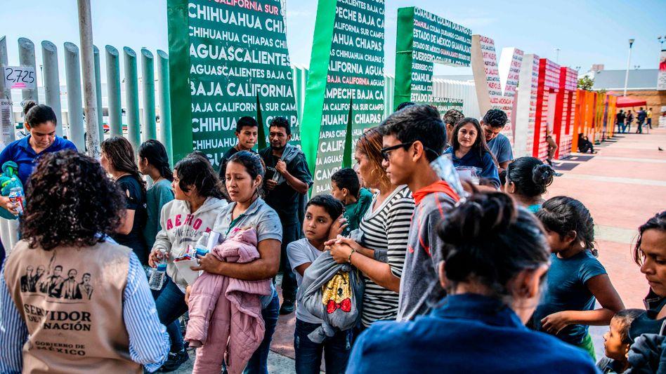 Mittelamerikanische Migranten an der US-mexikanischen Grenze