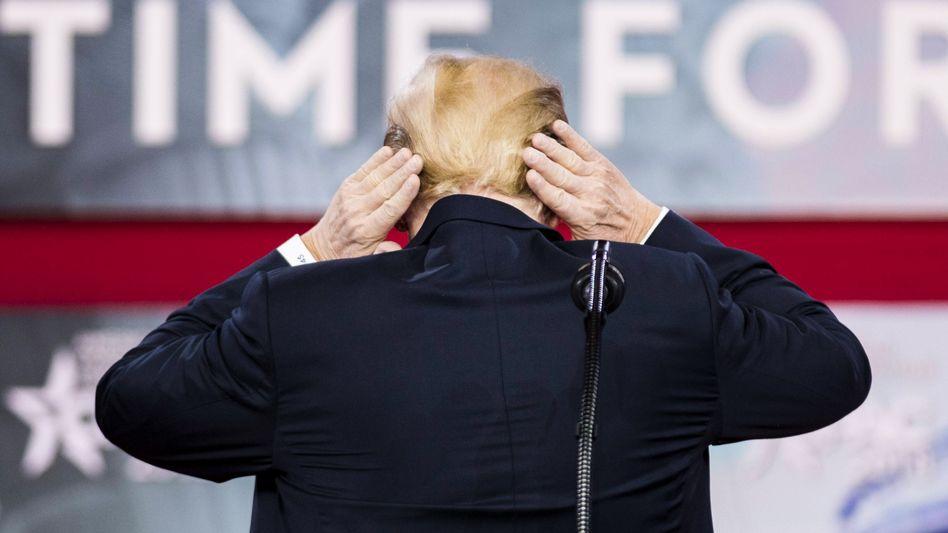 Donald Trump hat die Haare schön - und setzte die Rechnung für den Friseur von der Steuer ab