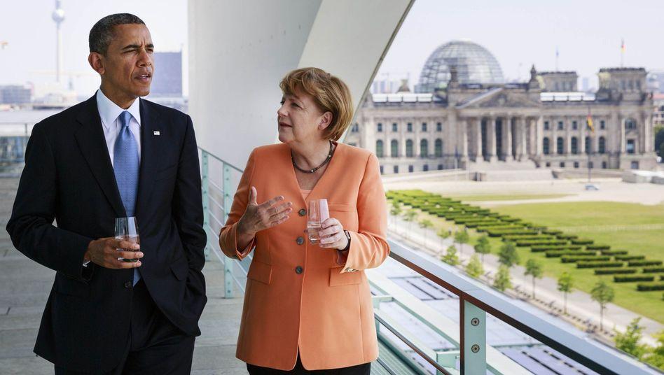 """Präsident Obama, Kanzlerin Merkel (in Berlin): """"Die machen alle was"""""""