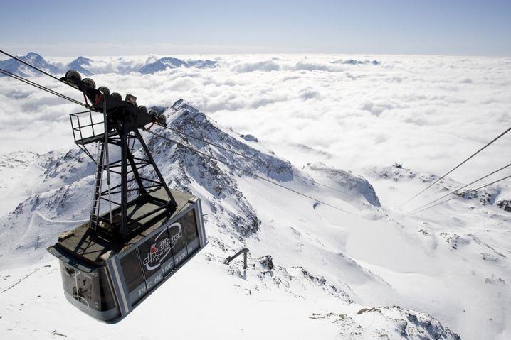 Alpe d'Huez: Skifahren mit Tunnelblick
