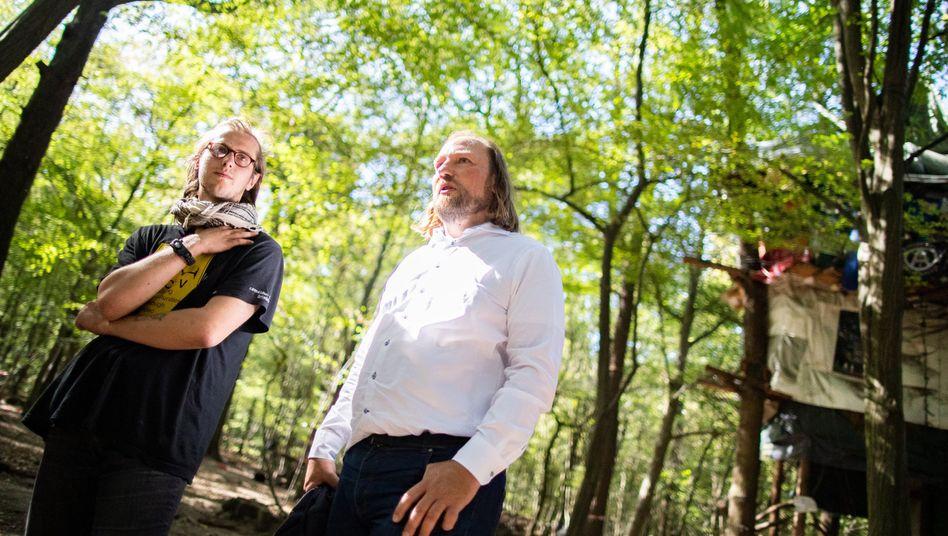 Anton Hofreiter im Hambacher Forst